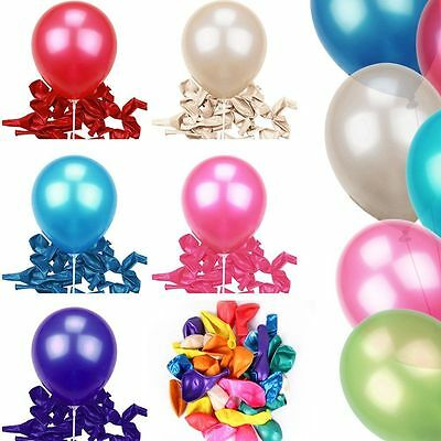 "10"" INCH LATEX HELIUM BALLOONS PARTY WEDDING BIRTHDAY SUPPLIES AIR QUALITY 100Pc"