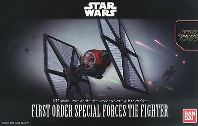 Bandai 1/72 Model Kit Star Wars First Order Special Forces Tie Fighter