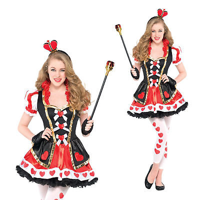Christys Dress Up Teen Girls Queen Of Hearts New Wonderland Fancy Dress Costume