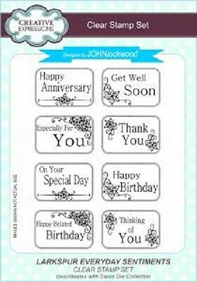 CREATIVE EXPRESSIONS A5 Clear Stamps Set Element SUMMERS CHILD CEC 779