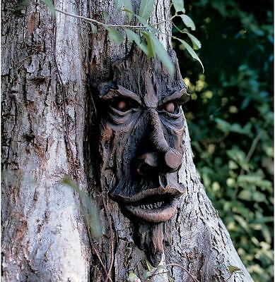 Realistic Harry Potter wood Carved Garden Tree Face Fun Garden Tree Decoration