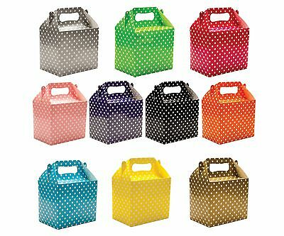 Polka Dots Spots Children's Birthday Party Colored Paper Lunch Loot Gift Boxes