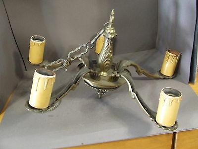 Antique Gothic Steampunk Metal Chandelier Faux Candle Holder Light Fixture