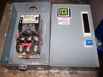 New Square D Size 00 Enclosed Motor Starter 2 Hp Max Coil 120 Vac 8536Sag12
