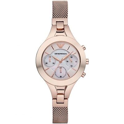 ** NEW ** Emporio Armani® watch AR7391 Ladies Rose-Gold steel mesh strap