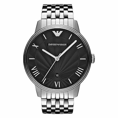 ** NEW ** Emporio Armani® watch AR1614 - Mens , Black Dial , Stainless steel