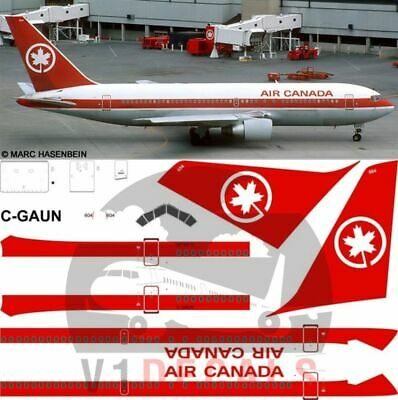 1/144 Air Canada Boeing 767-200 Red Gimli Glider Decals for Zvezda model