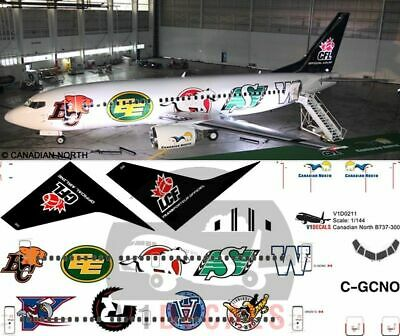 1/144 CFL Canadian North Boeing 737-300 Decals for Minicraft model
