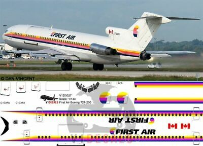 1/144 First Air Boeing 727-200 Decals for Airfix model