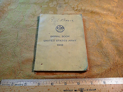 1916 United States Army Signal Book - Free S&H USA
