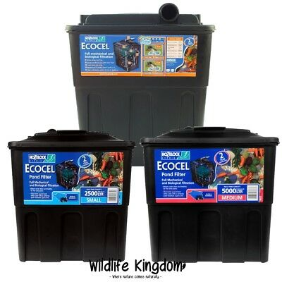 ✔ Hozelock Ecocel Fish Pond Filter Gravity Media Box System Garden Koi Goldfish✔