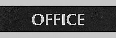 U.S. Stamp & Sign HeadLine Century Series 3x9 Inch Office Sign, Black and Silver
