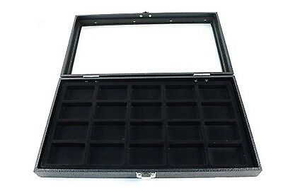 Glass Top 20 Lighter Black zippo Collectors Display Case