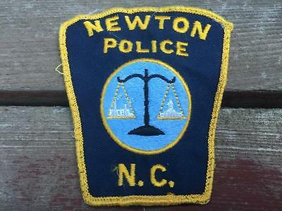 Vintage Newton N.C. Police Embroidered Patch w Scale of Justice