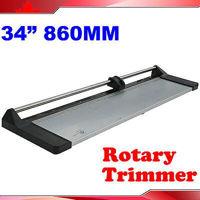 "Brand New 34"" 860mm Manual Rotary Photo Paper Cutter Portable Trimmer +1 Blade"