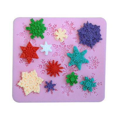 Silicone Snowflake Fondant Cake Candy Pastry Molds Moulds Form Useful DIY Decor