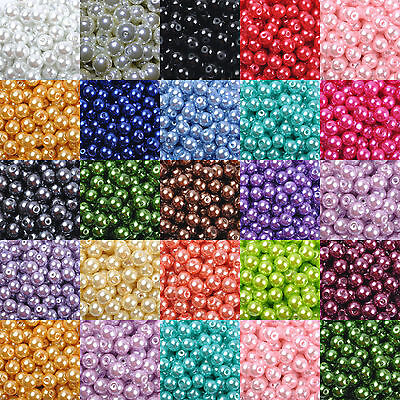 Wholesale Glass Pearl Round Spacer Loose Beads 4mm/6mm/8mm/10mm U Pick