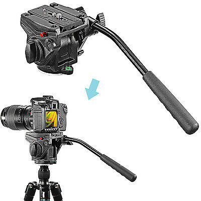 Neewer Pro Video Camera Fluid Drag Head with Sliding Plate for DSLR Cameras