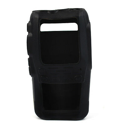 New Rubber Soft Handheld Case Holster for Radio Wouxun KG-UV8D Black+Track CO