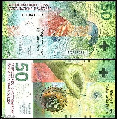 Switzerland - 50 Francs 2015 (2016) UNC, Pick NEW