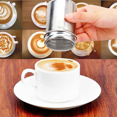 Stainless Steel Chocolate Shaker Coffee Flour Icing Sugar Salt Cappuccino Sifter