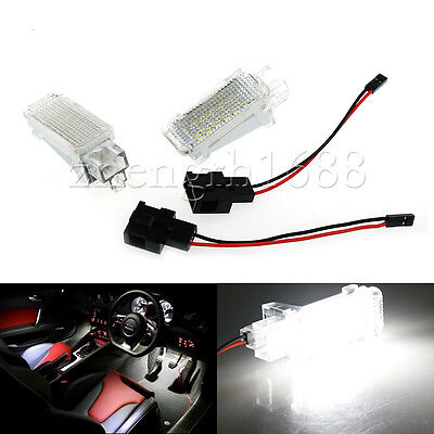 2x for VW LED Footwell Door Courtesy light FOR Audi Glove Box Trunk Light VW CC