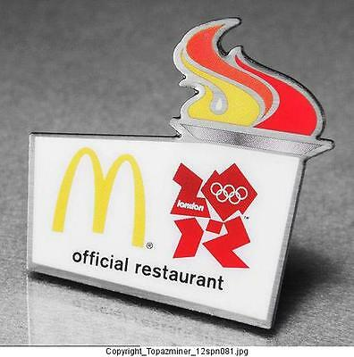 London 2012 Sports Memorabilia Olympic Pins 2012 London England Sponsor Mcdonalds Official Restaurant Palace Gd