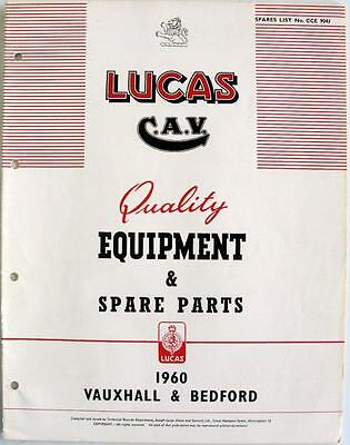 Lucas VAUXHALL/BEDFORD Electrics - Car Equipment & Spare Parts - 1960 - CCE904J