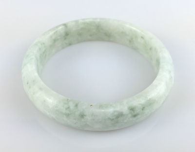 Bracelet Jonc 6,30cm Jade Jadéite Blanc Bangle Naturel Chinois Chine JONC J45