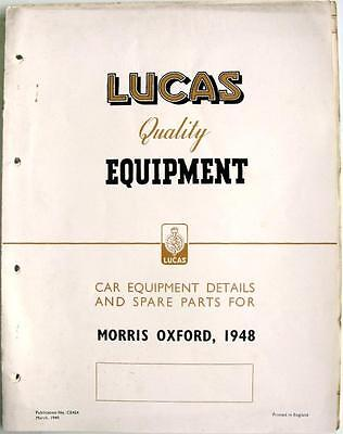 Lucas MORRIS OXFORD Electrics - Car Equipment & Spare Parts - Mar 1949 - #CE454