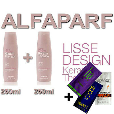 ALFAPARF MILANO Lisse Design Keratin Therapy SHAMPOO CONDITIONIER 2 *250ML GIFT