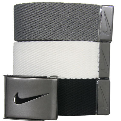 Nike Golf Men's 3-in-1 Web Pack Belts, One Size Fits Most - Select Colors!