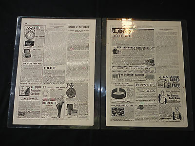 Two Delineator 1899 Antique Fashion Magazine laminated Pages