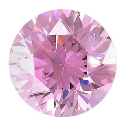 10mm Round-Facet Pink-Ice Cubic Zirconia (Jewellery Setting Options Available)