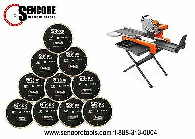 "Husqvarna TS-60 Tile Saw (Stand Included) + 10pk  10"" Shark Diamond Tile Blade"