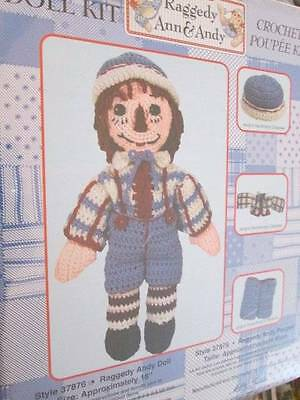 NEW Raggedy Andy Crochet Doll (Poupee) Kit- 18 Inches/45 cm-Classic Style #37876