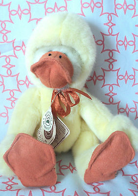 """Boyds Best Dressed Tan Bear Disguised As Duck Alouysius Quackenwaddle Easter 9"""""""