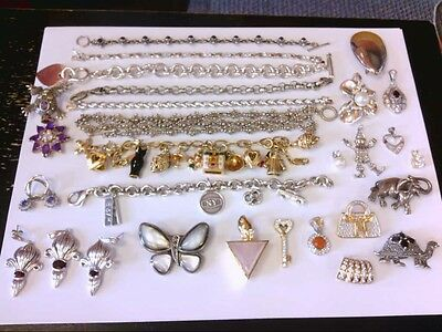 Assorted Silver (925) WEARABLE/RESALE Jewelry- Pendants/Bracelets/ and More.