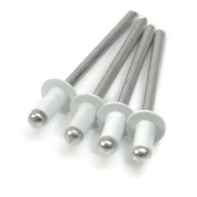 "White All Aluminum POP Rivets - (4-2) 1/8"" x .275 (0.063 - 0.125 Grip) Qty-100"
