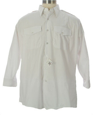 FLYING CROSS Mens White LS Uniform Shirt #24W5100 $52 NEW