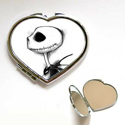 Heart / Square Jack Nightmare Before Christmas Compact Make Up Mirror Gift