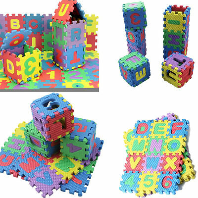 36 PCS Soft  Foam Baby Kids Alphabet Numerals Play Mats Puzzle Jigsaw Toys