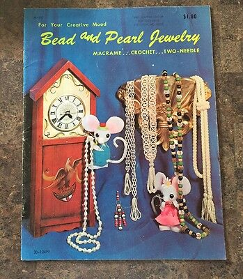 For Your Creative Mood Bead and Pearl Jewelry Macrame Crochet Two-Needle 1971