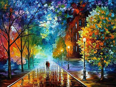 """FRESHNESS OF COLD   —  Oil Painting On Canvas By Leonid Afremov Size: 40""""x30"""""""