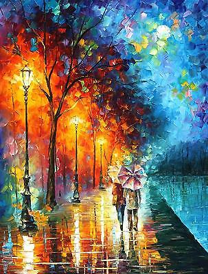 """LOVE BY THE LAKE   —  Oil Painting On Canvas By Leonid Afremov. Size: 30""""x40"""""""