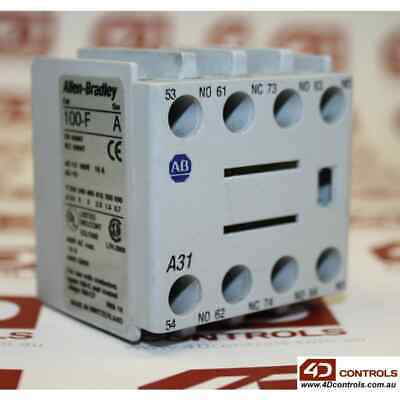 Allen Bradley 100-FA31 Auxiliary Contact Block, Front Mounting - Used - Series A