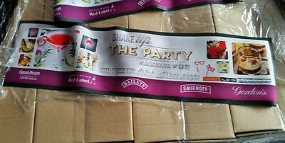 3 x Shake up the party bar runners / mat (new)