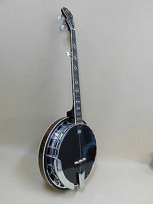 Caraya BJ009-BT 'Blacktop' Premium 5-String Banjo + HARD Case