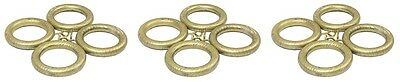 12 x Sherwood Antique Gold Finish Wood Wooden Rings for 28mm Curtain Poles