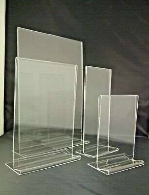 Table Counter Plastic Acrylic Perspex Holder Display Menu Stands A3 A4 A5 A6 DL